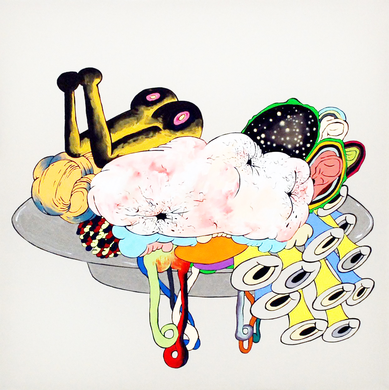 HaYoung Kim, What You Eat II, 2012, Acrylic on polyester