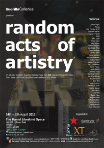 Guerilla Galleries Random Acts Poster