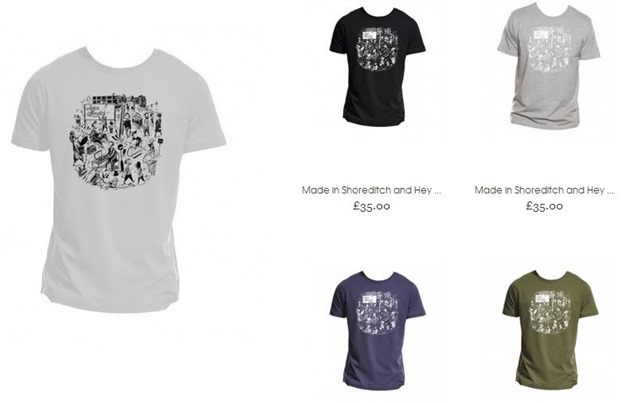 made in shoreditch tshirts