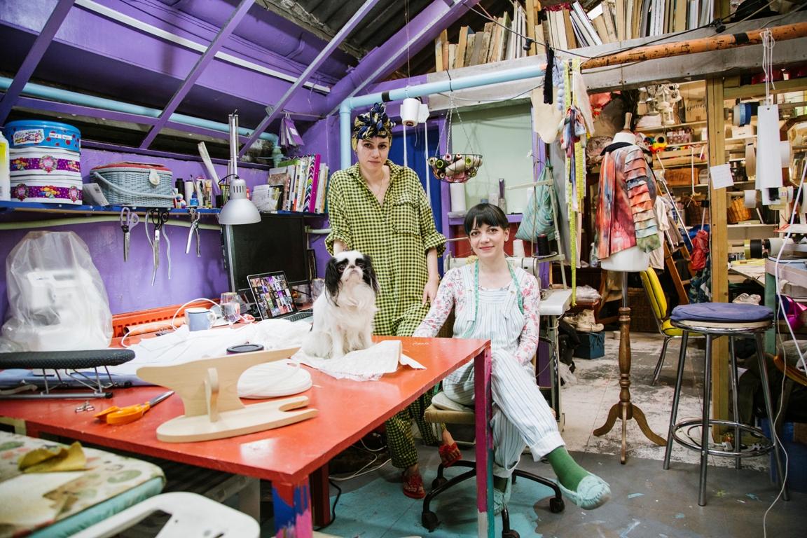 Sasha and Rachel - co-creators of FISHWIFE - fashion designers