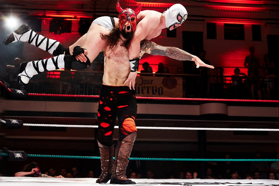 "THE GREATEST SPECTACLE OF LUCHA LIBRE at York Hall - Lucha Libre, which translates as ""free fighting"", is a Mexican style of wrestling where fighters enter the ring in flamboyant capes and outlandish suits, wear mythical and colourful masks, perform acrobatic moves and fly from spectacular heights."