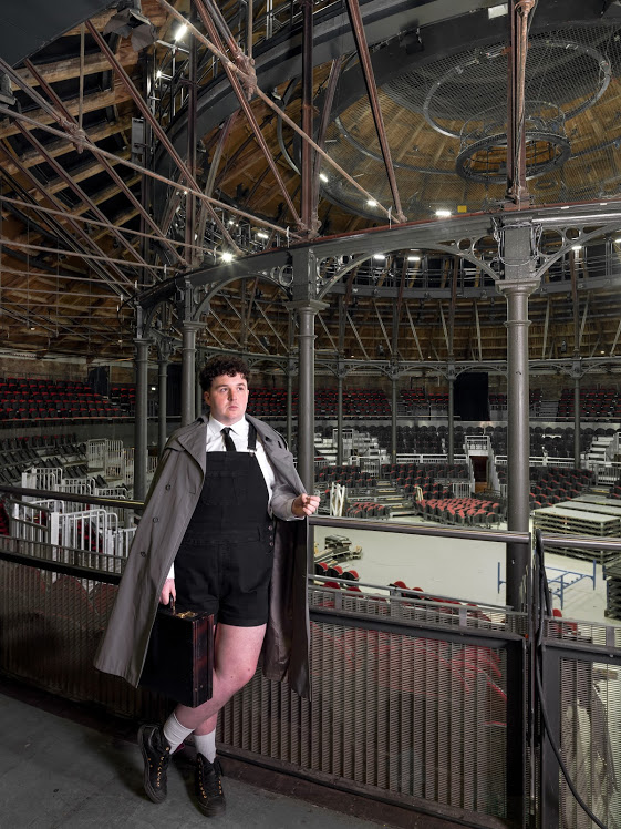 Scottee, Roundhouse. Scottee is a performance artist and writer from Kentish Town. He is currently an associate artist at the Roundhouse, Chalk Farm. © Historic England/Chris Redgrave