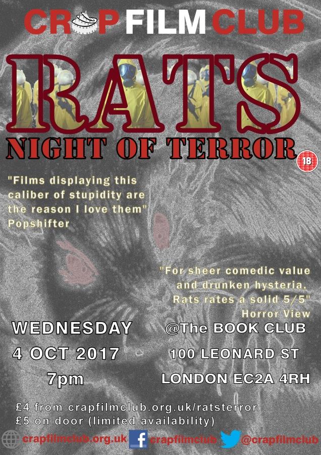 Crap Film Club presents RATS: NIGHT OF TERROR