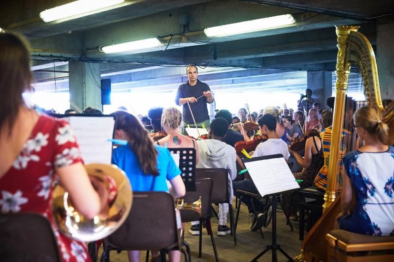 The Multi-Story Orchestra\\\'s Summer Season at Bold Tendencies Car Park Peckham