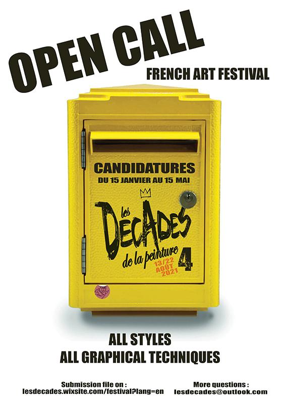 Open call 4th french art festival Décades de la peinture