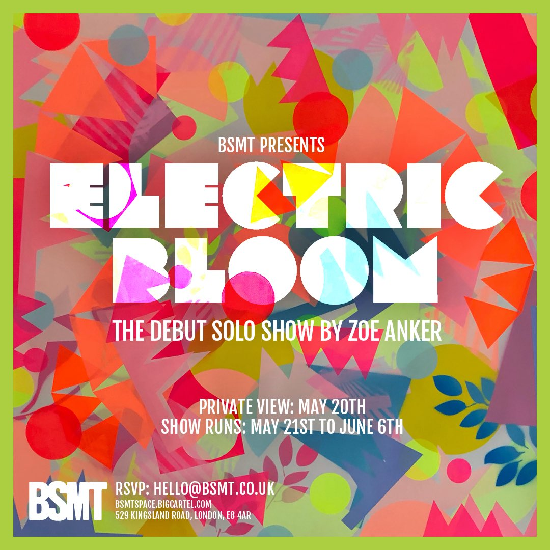 Electric Bloom - Debut Solo show by Zoe Anker