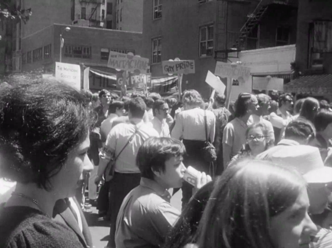 First pride parade June 28, 1970. Photo from the Library of Congress.